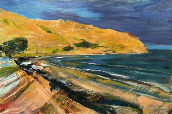 Landscape - Approaching Storm, Port Jackson (Coromandel) by John Horner