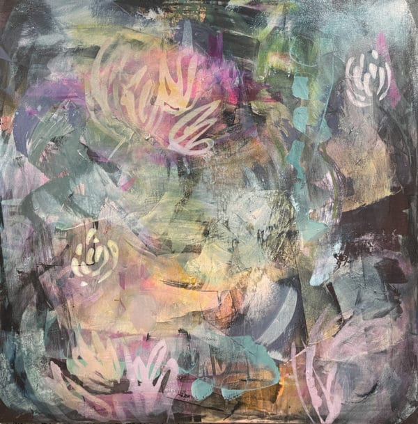 Abstract painting - Moody Blooms by Jody Hope Gibbons