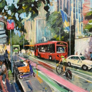 Cityscape - Queen St Bustle by John Horner