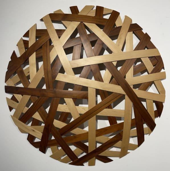 Sculpture - Walnut and Maple Weave by Jamie Adamson