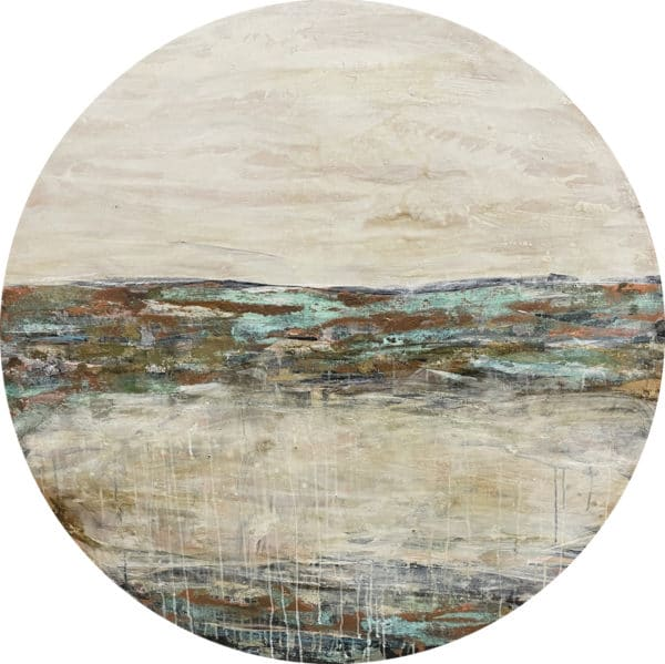 Contemporary landscape - Whitewash 2 by Jody Hope Gibbons