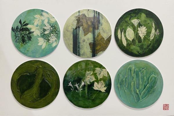 Abstract nature - Blue Circle by April Shin