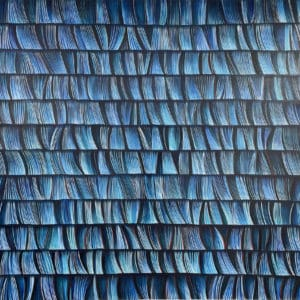 Abstract art - In Rhythm With Blue by Lisa Ormsby