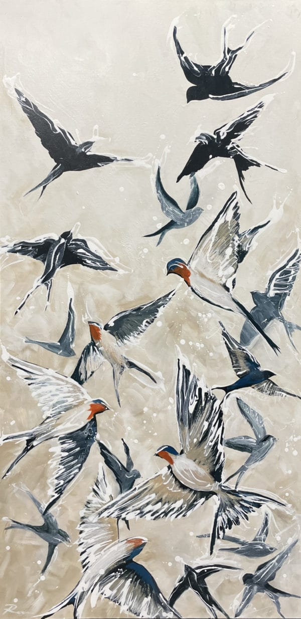Nature painting - Swift as Swallows by Tina Ross