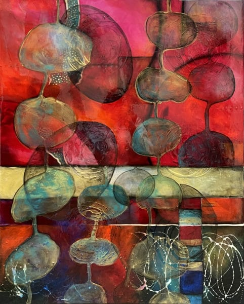 Abstract art - Balance by Clare Wilcox