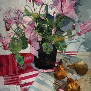 Still life - Cyclamen and Pears by Galina Kim