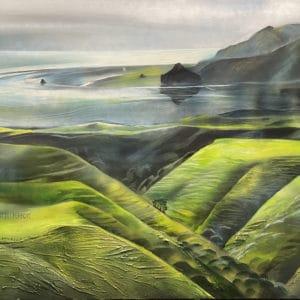 Landscape - From Awhitu to Whatipu by Jill Perrott