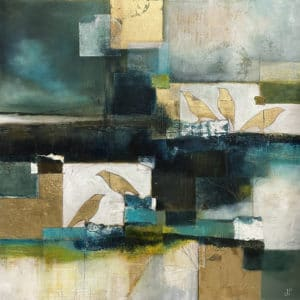 Abstract art - Gold Dusk by Julie Whyman