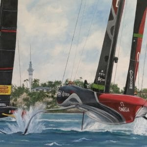 America's Cup 36th Race Victory 2021 by Hazel Hunt