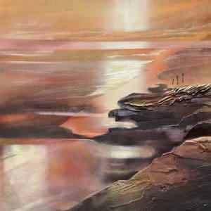 Landscape - The Rocks Muriwai by Jill Perrott