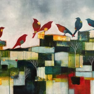 Contemporary landscape - Where We Meet by Julie Whyman