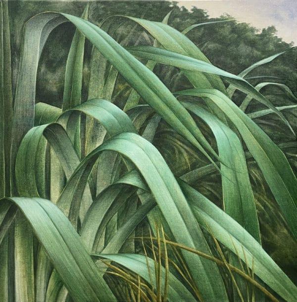 Landscape - Island Flaxes by Sally Simons
