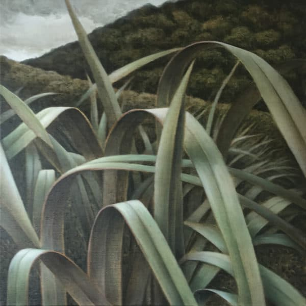 Landscape - Silver Flaxes by Sally Simons