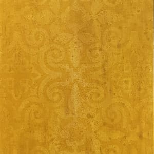 Abstract - Temple Panel in Gold by Sally Simons