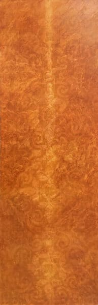 Abstract - Temple Panel in Red Ochre by Sally Simons