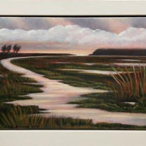 Landscape - Whatipu Wetlands by Sally Simons
