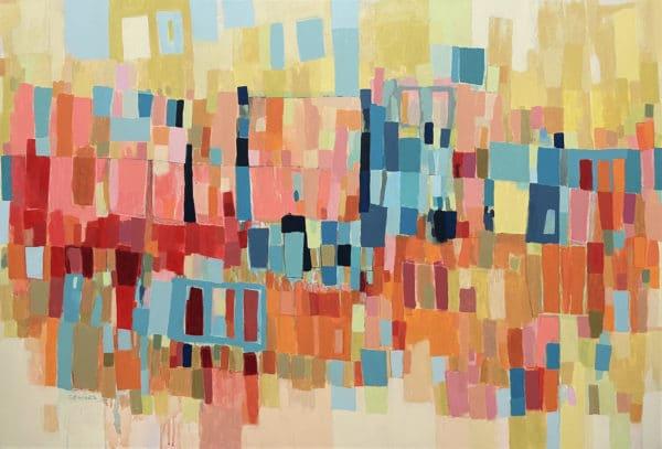 Abstract art - Carmen Millares by Constanza Briceno