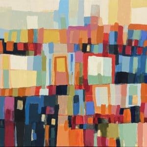 Abstract art - Tia Dina by Constanza Briceno