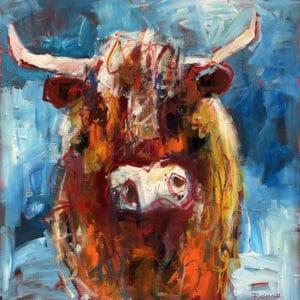 Farm animals - Highland Cow by Pauline Gough