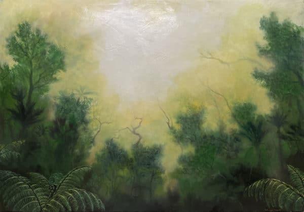 Nature landscape - Misty Fiordland by Hazel Hunt