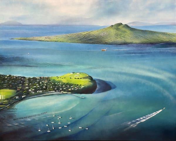 Landscape - North Head and Rangitoto by Jill Perrott