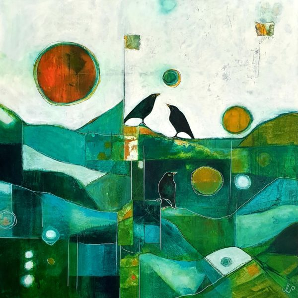 Nature painting - Morning Song by Julie Whyman